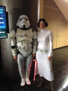 Princess  Leia and the Storm Trooper Phil