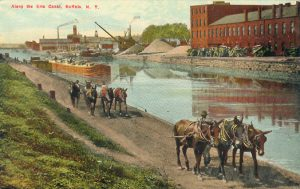 Along the Erie Canal, Buffalo, N.Y. (No. M 71, Buffalo News Co., Buffalo, N.Y.) -- not postally used ; approximately 1908