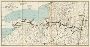 Map showing Present and Proposed Canal System, to accompany report of Edward A. Bond, State Engineer and Surveyor of N.Y. (from:Annual report of the State Engineer and Surveyor of the State of New York, for the fiscal year ending September 30, 1903 (Oliver A. Quayle, Albany, 1904) -- facing p. 60)
